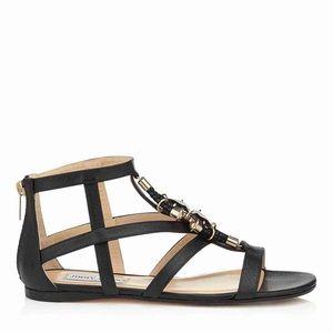 Jimmy Choo Shoes - Jimmy Choo Nano Flat - Leather Sandal size 37.5